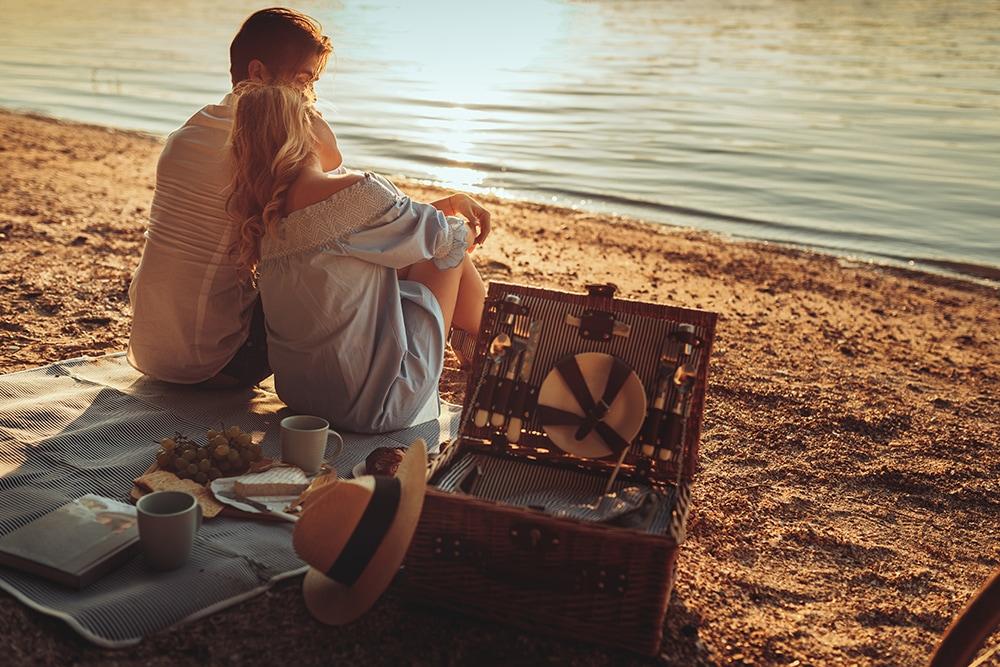private beach picnic